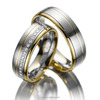 Traditional Classic Women's Matching Classic Gold Wedding Bands Wholesale Factory Cost