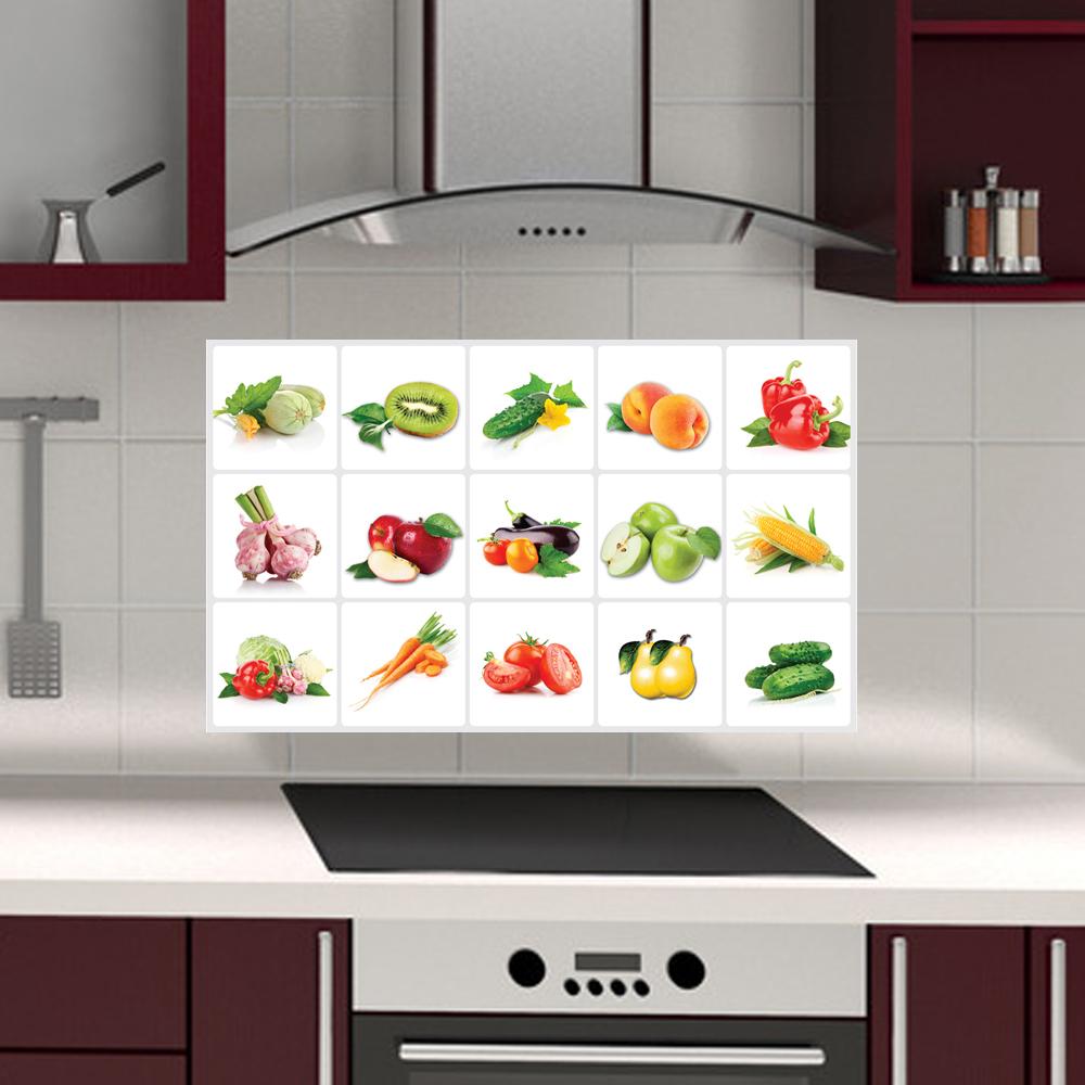 3019 Rimovibile Frutta/Verdura Modello Anti-olio Stickers Murali ...