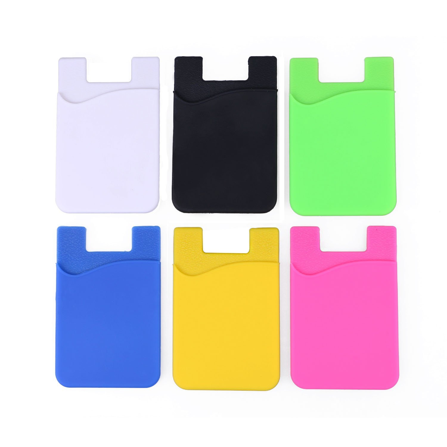 Phone Card Holder >> Elastic Silica Gel Cell Phone Wallet Case Credit Id Card Holder