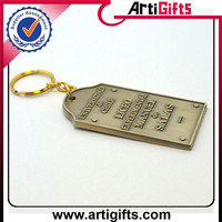 High performance metal zinc alloy clock watch keychain
