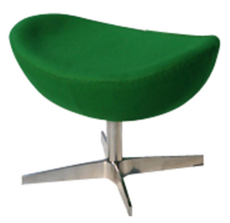 Fine Mod Imports Inner Ottoman Fabric Green/Aluminum/Contemporary/Modern