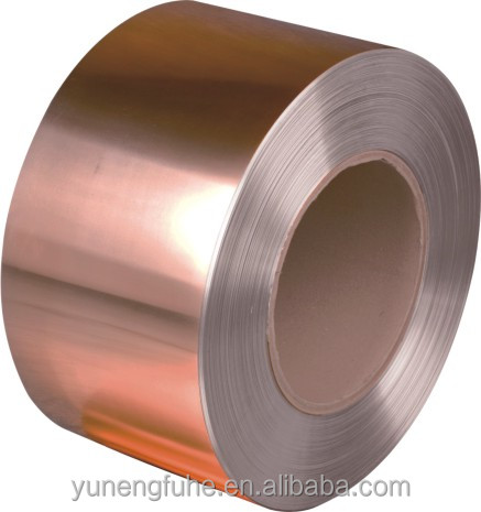 Copper Clad Steel Strip - Brass Brand: C11000/T2 - Copper/steel/copper