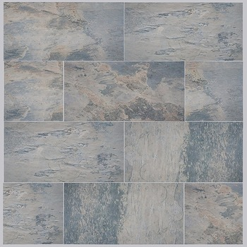 Blue Marble Floor Mexican Vinyl Tile Suitable For Villa Use