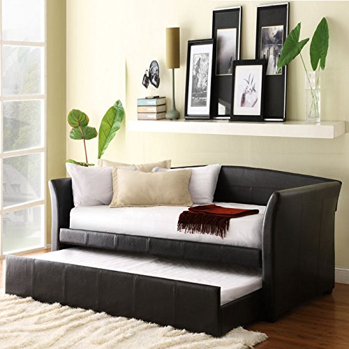 Home Creek Vinyl Daybed with Trundle Bed