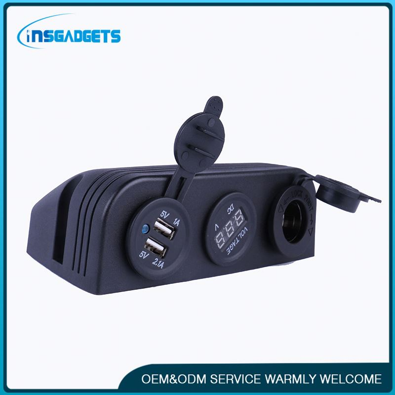Motorcycle motorbike car boat usb socket ,h0tat 12 volt plugs and sockets for sale