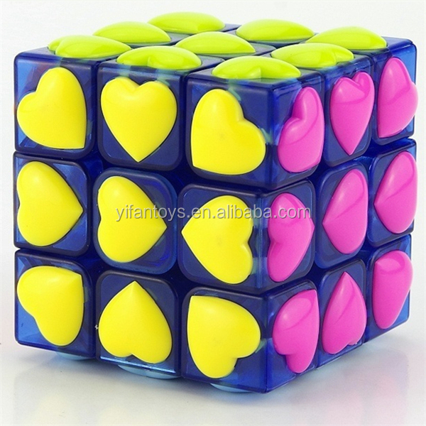 Yongjun 6cm Magic Cubes Yj8311 Love 3x3 Magic Cubes Diy Toy For ...