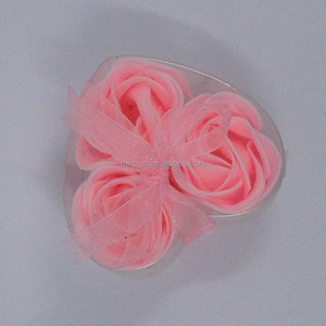 flower rose paper soap in PP box for promotion