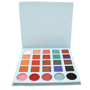 romantic color no brand matte wholesale makeup magnetic cardboard pressed glitter eyeshadow