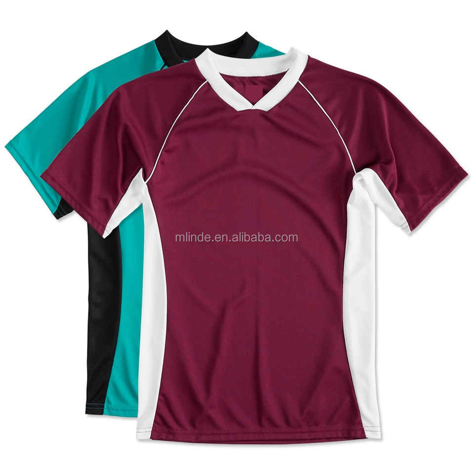 Sport Outfit Colorblock Performance Soccer Jersey Football Shirt Maker Soccer Jersey Set Uniform Custom 2017 For Men