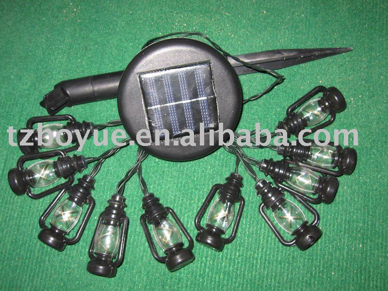led solar string light with winebottle