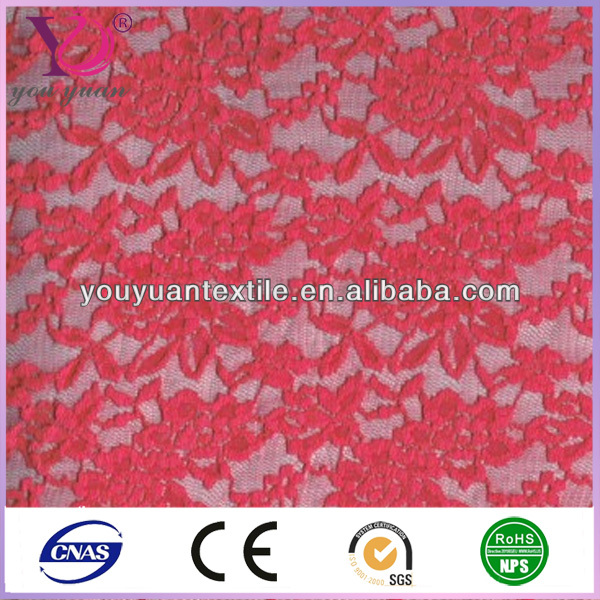 Red sewing tulle mesh lace fabric for summer socks.jpg