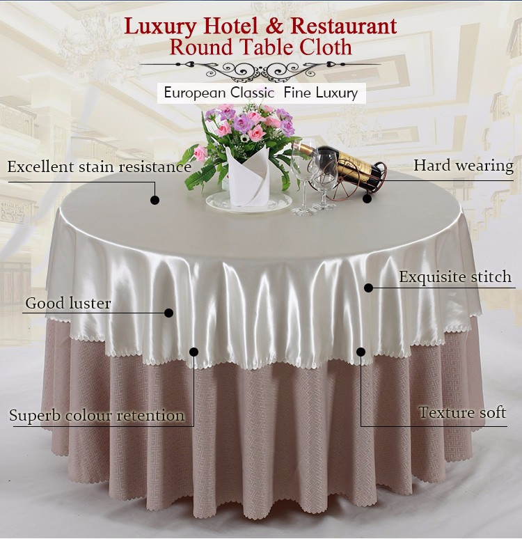 Top Quality Restaurant Table Linen 100% Polyester Round Table Overlay  Jacquard Damask Tablecloth   Buy Damask Tablecloth,Jacquard  Tablecloth,Jacquard ...