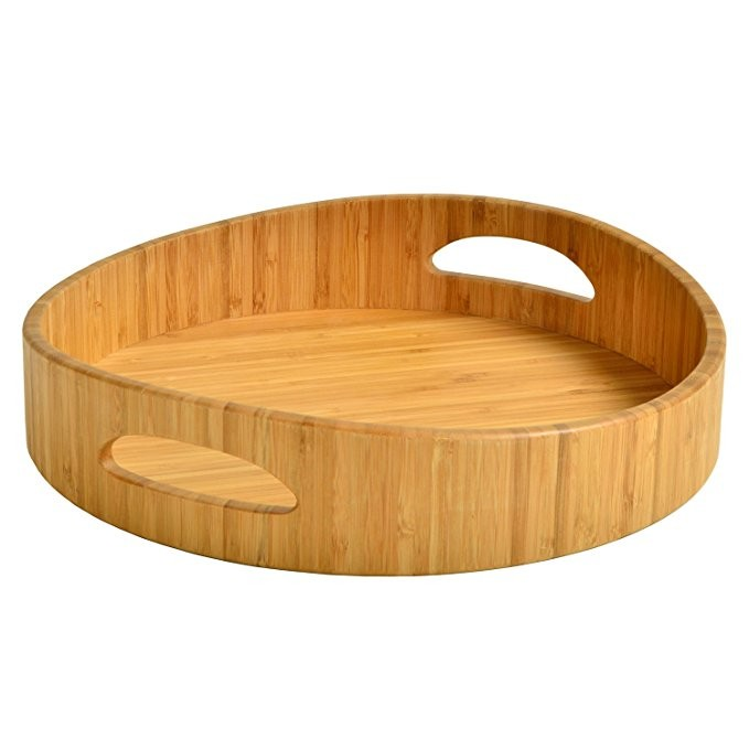 bamboo wood breakfast bed tray wood serving tray