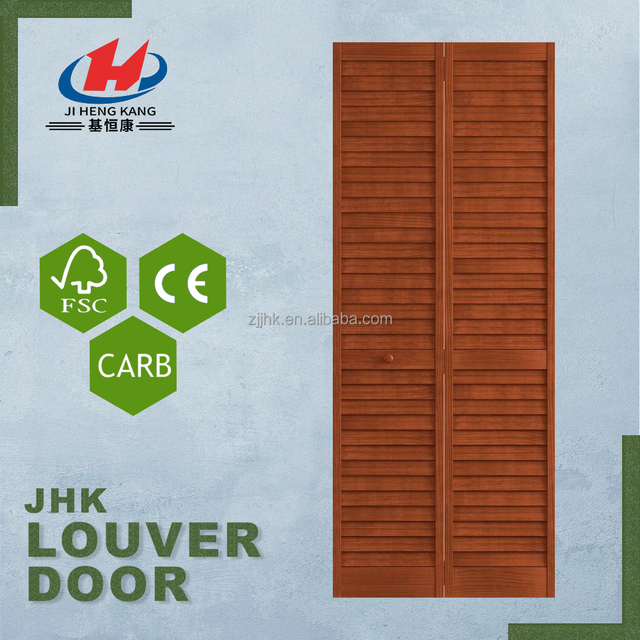 JHK B07 Malaysian MDF Cabinet Wooden Louver Doors Dust Seal