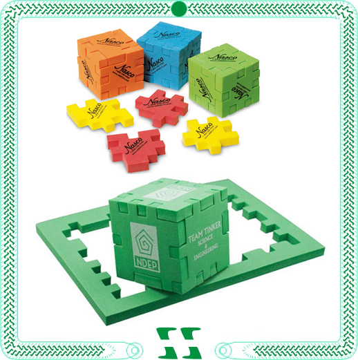 Hot sale foam cube puzzle with printed logo