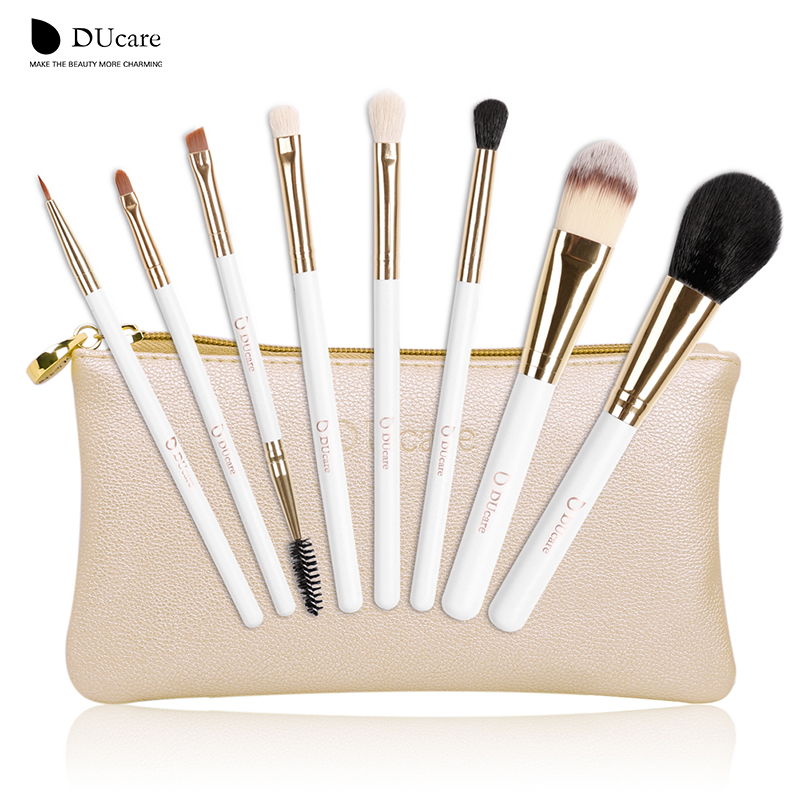 d2e26bbe6681 US $9.88 35% OFF|DUcare make up brushes 8pcs brush set professional Nature  bristle brushes beauty essentials makeup brushes with bag top quality-in ...