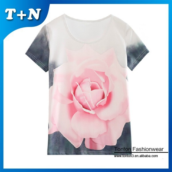 unique personalized sublimation women t shirt 2015