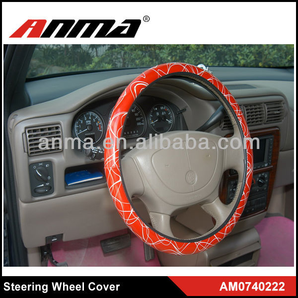 Best quality leopard leather steering wheel cover