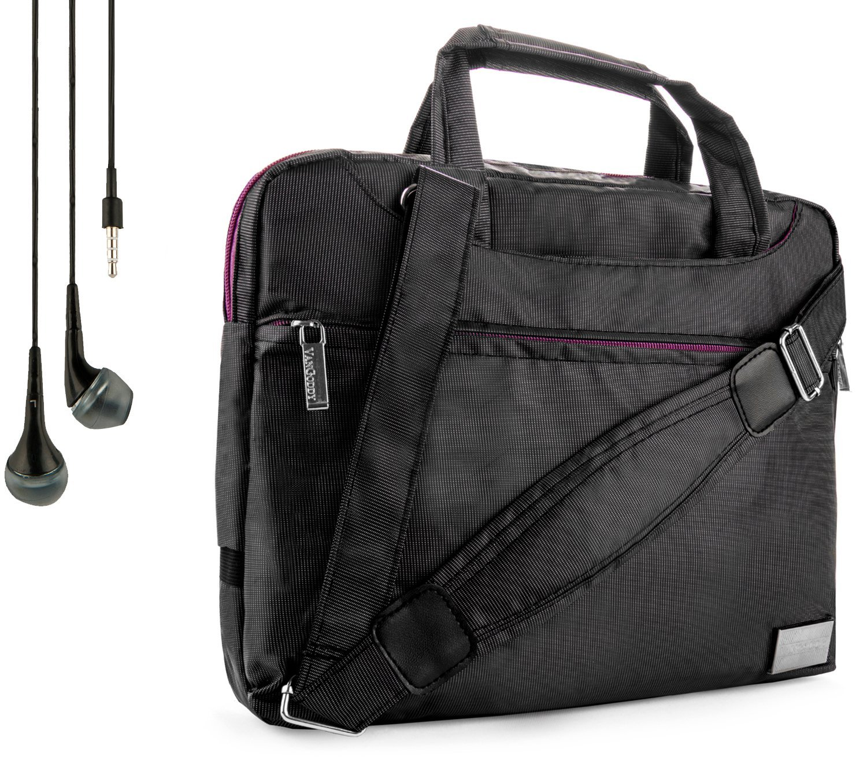 NineO Sport Nylon Shoulder Bag Carrying Case For Amazon Tablets (Fire, Kindle Fire, HDX, HD) + Handsfree Earphones