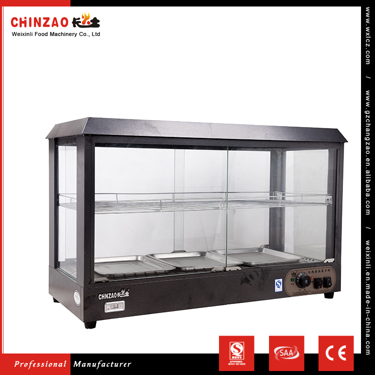 CHINZAO China Quality Products 800W Electric Hot Food Warmer Showcase With Stainless Steel