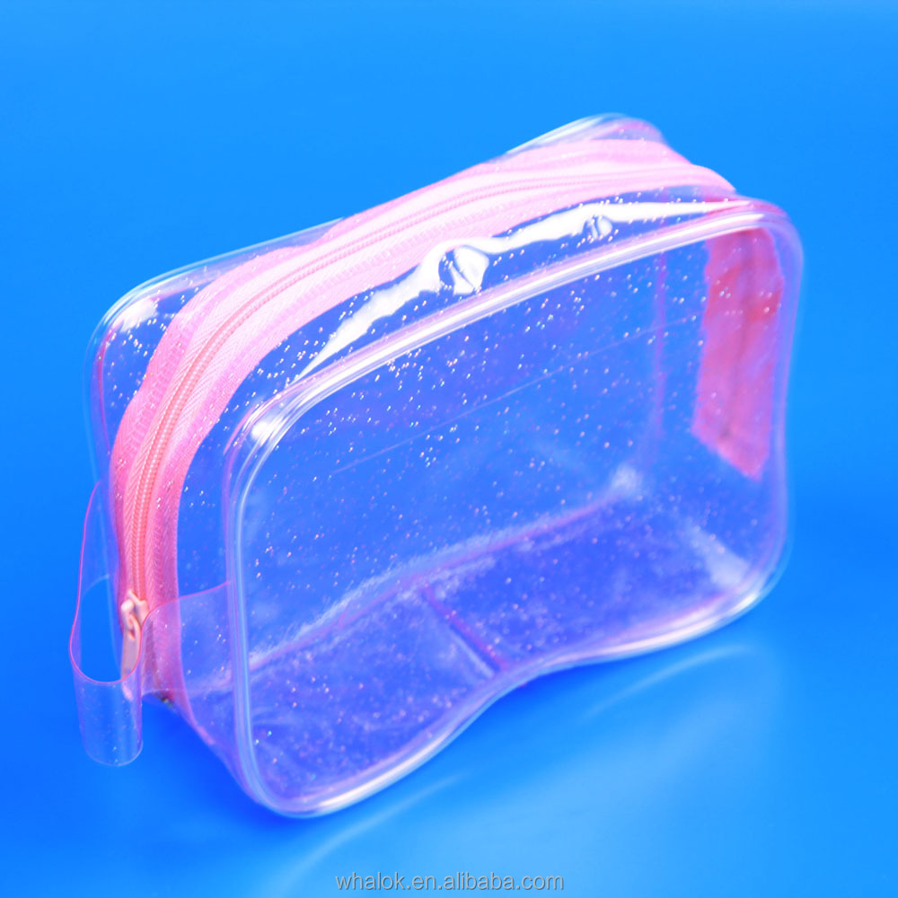 women small mini clear waterproof cosmetic makeup toiletry travel bag pouch