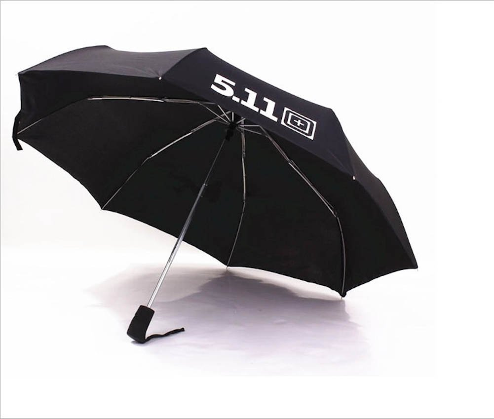 Black Military Outdoor Automatic 3 Folding Men Black Windproof Uv Protection Umbrellas Paraguas
