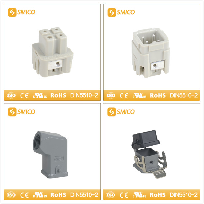 alibaba china Whose set HA003 4 Pins male and female electrical connector replace Weidmuller heavy duty connector