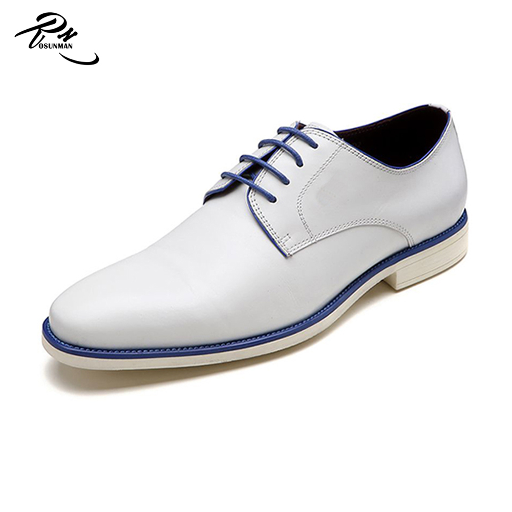 Navy use casual oxford party& wedding white dress shoes the man made in China
