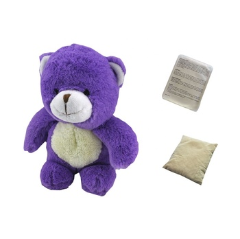 Plush lavender bear peiguin animal toy with stuffing inside plush animal toy