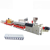 Plastic PVC Cable Trunking Extruder Production Line With Hole Punching Machine