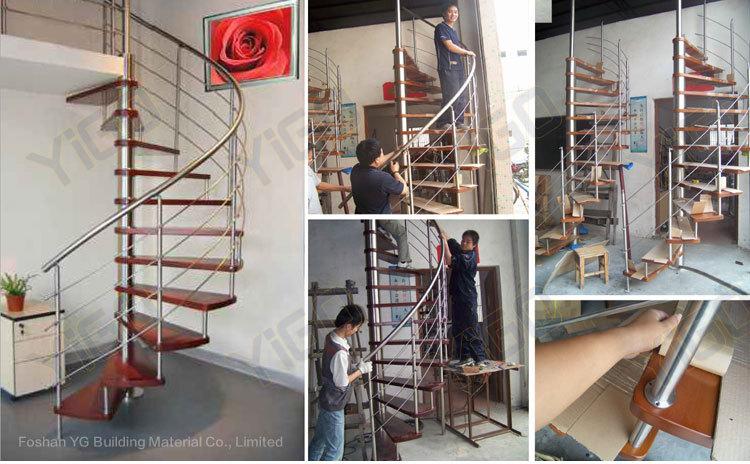 Prezzo di legno scala a chiocciola indoor scala a - Scale di legno prezzi ...