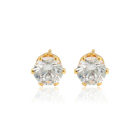 97181 xuping hot selling women wholesale 24 K gold color artificial crystal stud earring
