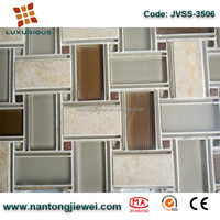 brown goldline glass mix grey serpeggiante stone mosaic basket weave tile natural marble mosaic home decorative wall tile pictur