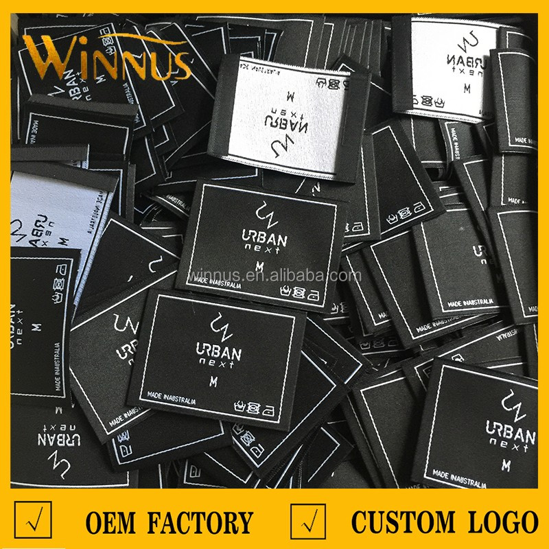 cheap factory custom t-shirt labels and tags for t shirts jeans