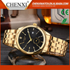 Oem Fashion Japan Quartz Day/Date Cool Men Classic Gold Watch