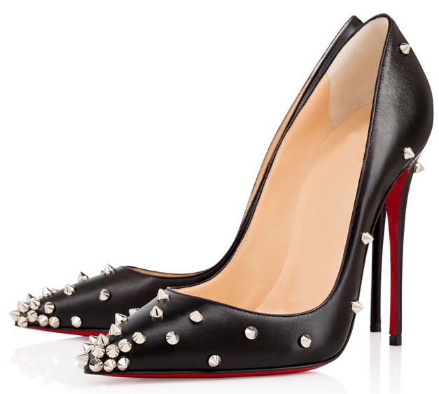 c114f036c47 Buy Sexy Dress Women Shoes Brand Red Bottom Lady Peep 150mm black ...