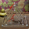 "3""-32"" Cheap price Quartz Singing Clear Meditation Triangle Chakra Healing Crystal Pyramid Sound Therapy Quartz Singing Pyramid"