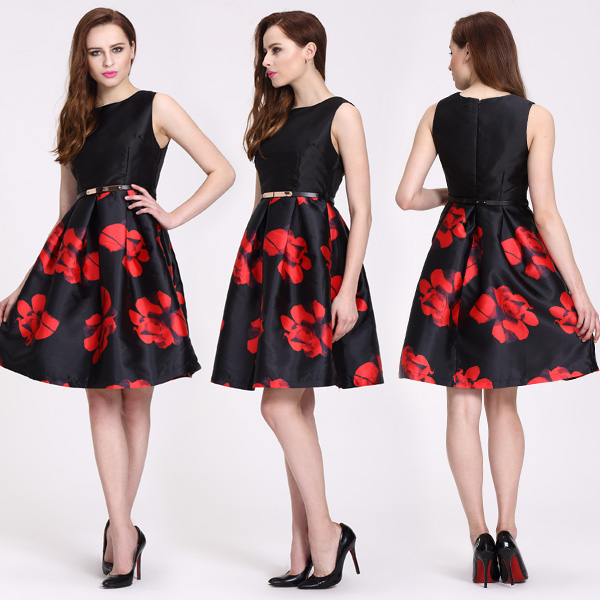 Latest Casual Dress Designs Printed Fabric For Dress Color