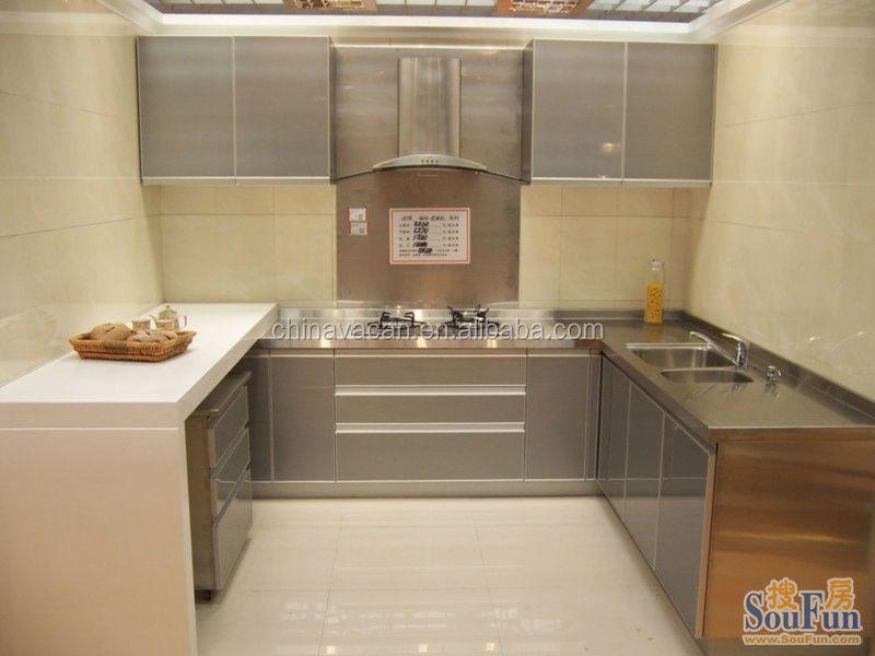 De alto brillo de cristal templado paquete plano gabinete - Vidrio templado cocina ...