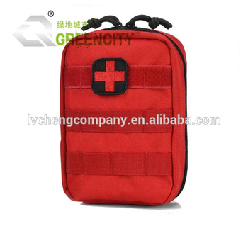 Tactical First Aid Bag Only Molle Medical EMT Pouch Military Utility Pouches Red