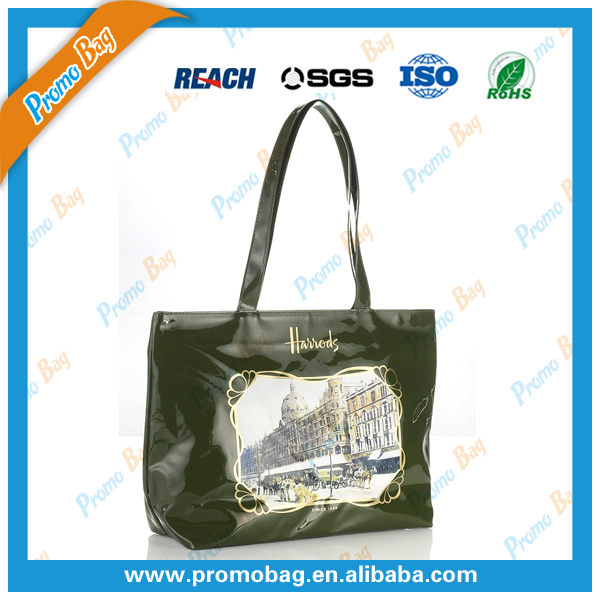 Shiny PVC Tote Bag Durable PVC Women Shopping Bag