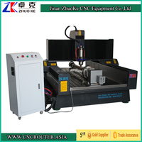 4 Axis Marble CNC Carving Machine Stone CNC Router Heavy Duty ZK-9015 900*1500mm PCI NCStudio Control 5.5Kw Spindle CE Approval