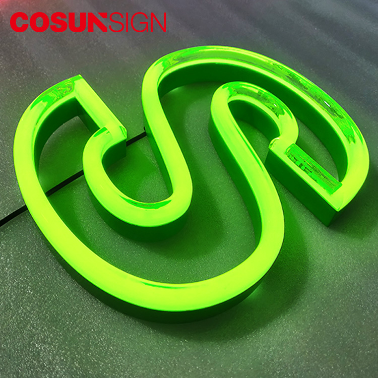 Cosun Zeichen Custom acryl 3d mini led licht neon brief zeichen outdoor-display