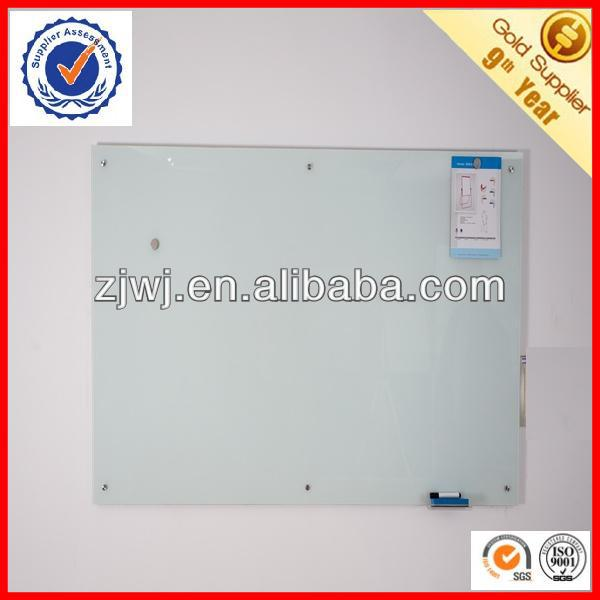Custom made 4mm magnetic wall decorative hanging glass whiteboard
