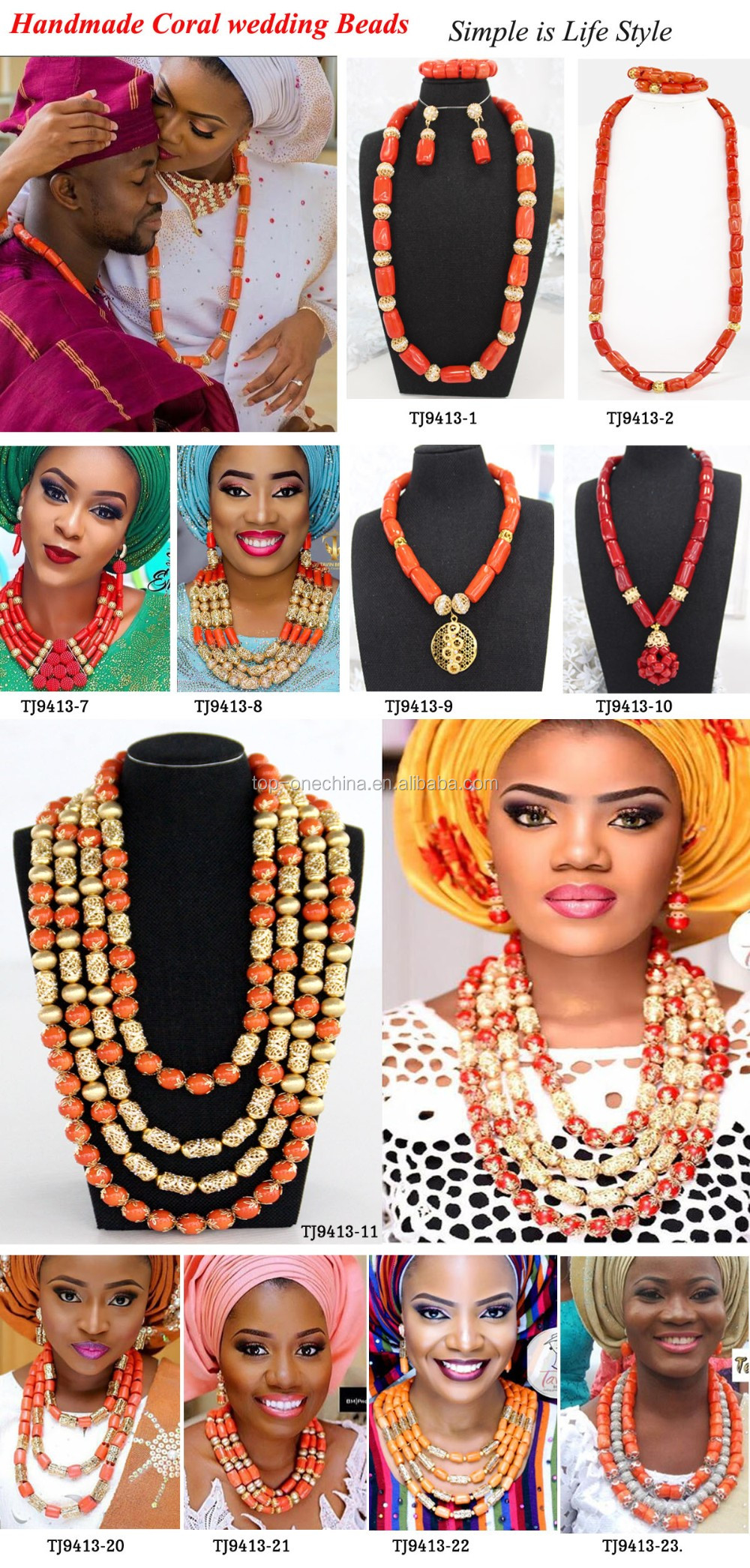 Africain Perles Mariage Bijoux Style