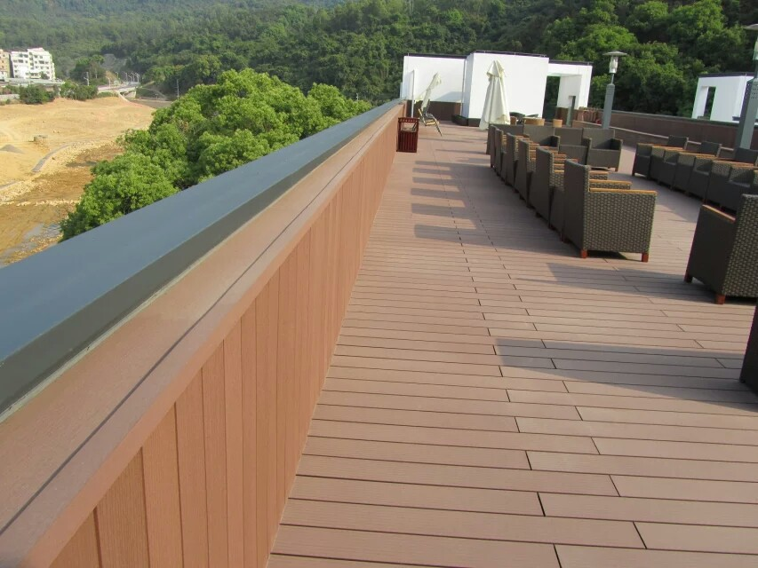 Weather resistant vinyl outdoor composite decking high for Wpc decking