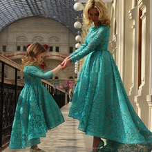 2017 High Back Low Front Applique Ball Gown Formal Evening Carpet Gown Long Sleeve Elegant Lace Muslim Arabic Prom Dresse MP2214