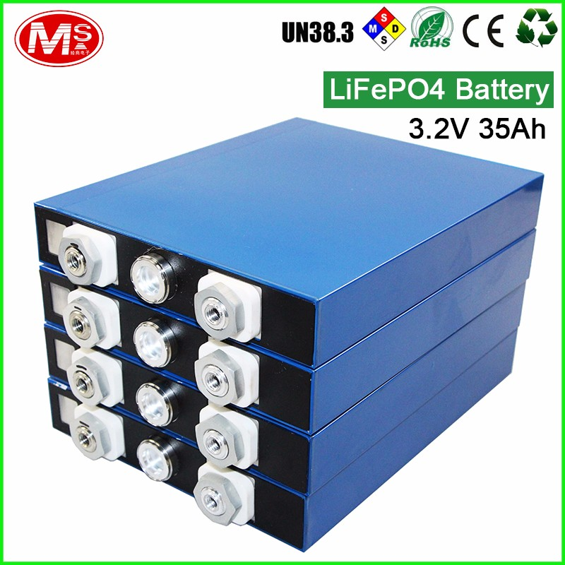 Customized rechargeable 3.2V 35Ah lithium battery/ battery pack for solar energy storage