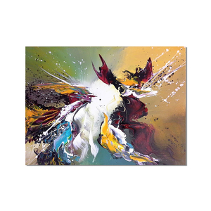 High Quality Abstract Oil Painting on Canvas Light Colors Modern Abstract Oil Painting for Wall Decoration