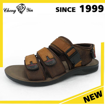 Southeast Asia Camel Model Mens Thick Sole Sandal Shoes Manufacturer